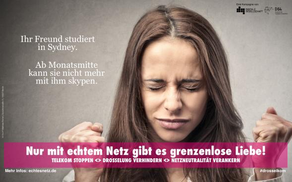 Kampagne für die Netzneutralität: Plakate des Digitale Gesellschaft e.V. und D64 - Zentrum für digitalen Fortschritt. (Quelle: echtesnetz.de)